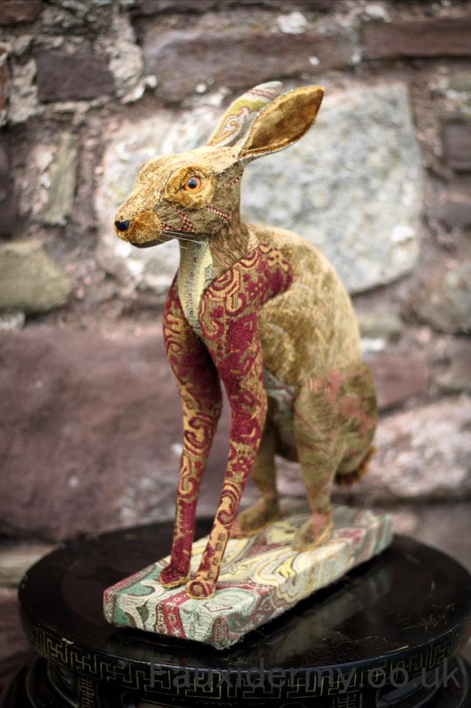 hare-sitting-full-body-taxidermy-fauxidermy-textile-trophy-head-fabric