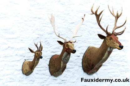 red stag-red deer-fauxidermy-textile taxidermy-fake-fabric-helly powell