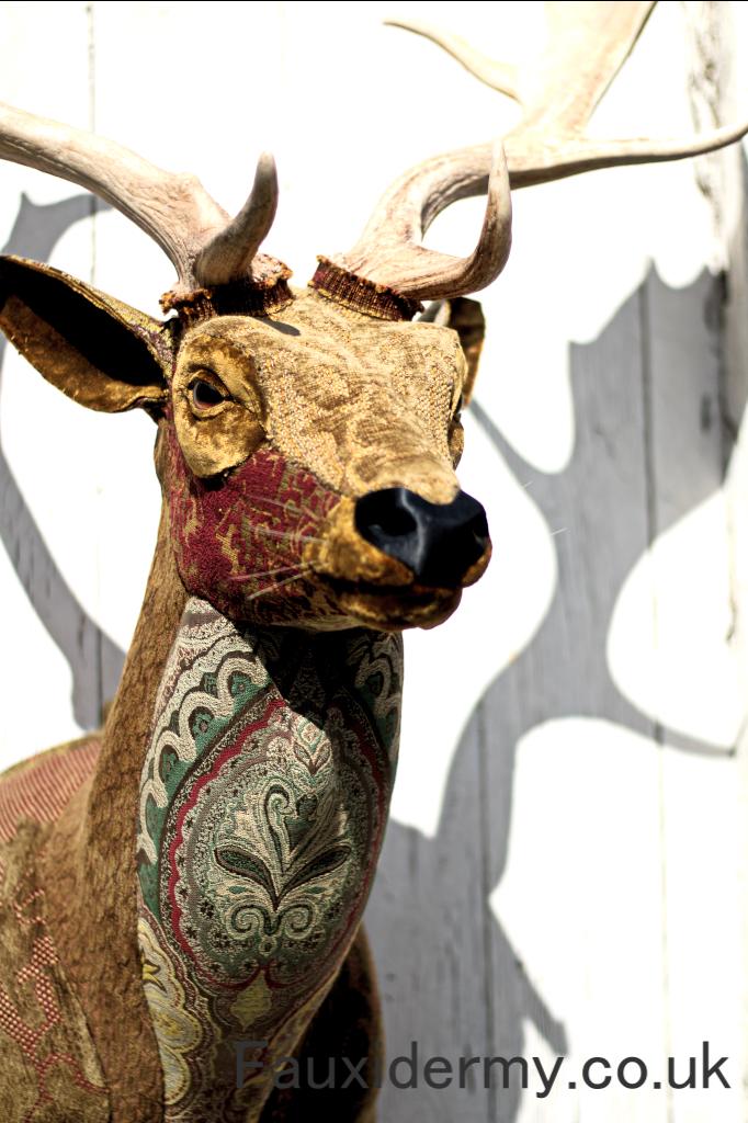 fallow-deer-buck-stag-fauxidermy-taxidermy-textile-fabric-trophy-head