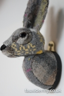Textile Taxidermy, fauxidermy, textile art, faux taxidermy, helly powell textile artist, melin tregwynt, year of myths and legends, visitwales, beasts of the mabinogion, rabbit, Mabinogion,