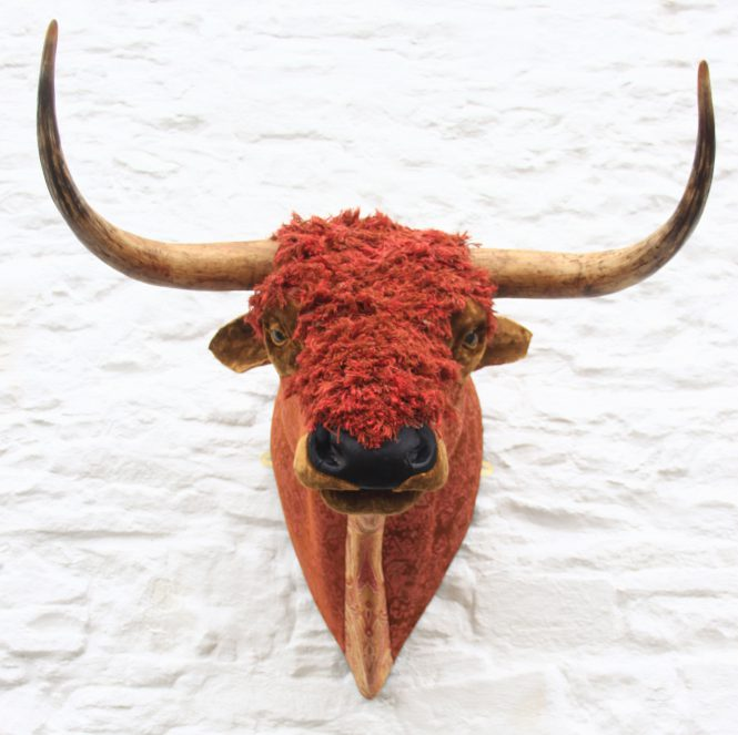 Highland Bull textile taxidermy