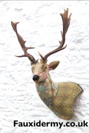 textile taxidermy fauxidermy fallow deer welsh blankets
