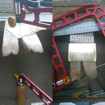 rocess of making Twrch Twryth Razor, Scissors and Comb